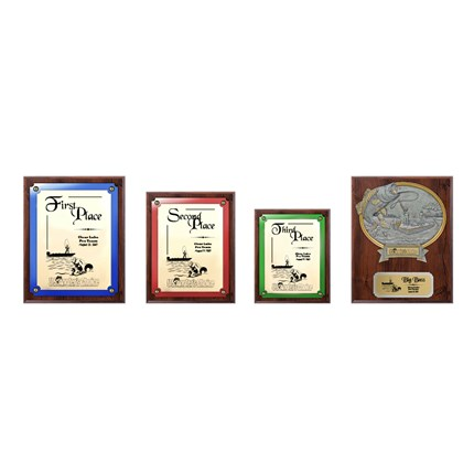US Angler's Choice Plaque Series - Package 2 - Walnut