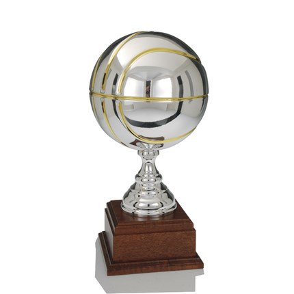 Ec-1543 Gold And Silver Basketball Series - Full-Metal Cup