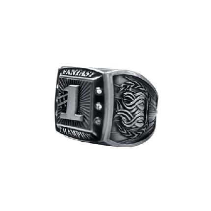 Championship Ring - Fantasy Champion - Silver