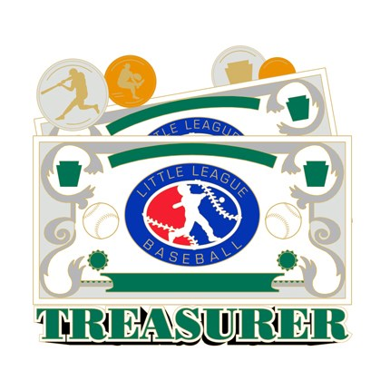 Little League Baseball Pin Series - Treasurer