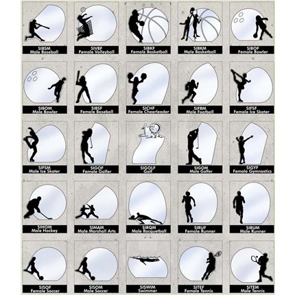 Sports Silhouette Series - Hockey, M