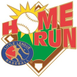 Little League baseball home run pin