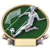 3D Popout Oval Resin Series - Soccer