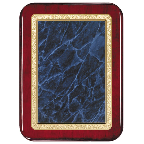 A rosswood plaque shiney blue counters.(rectangular shape)
