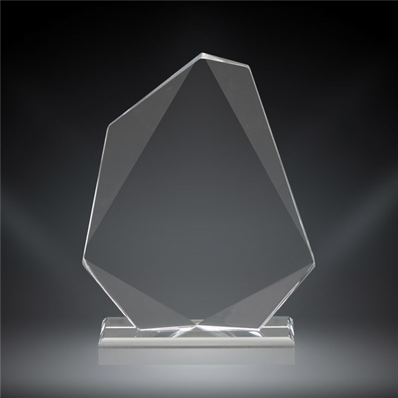 Recognition award with custom engraving and beveled edges