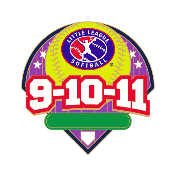 9-10-11 Year Old Softball Pin Series