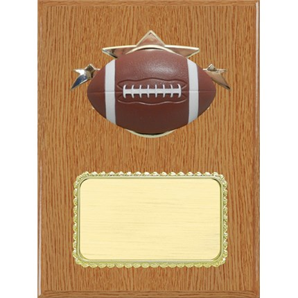 resin-plaque-series-football-light-wood