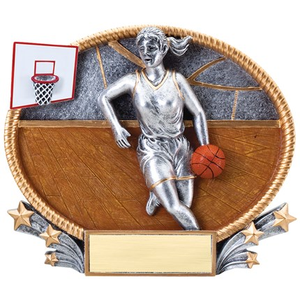 3D Popout Oval Resin Series - Basketball