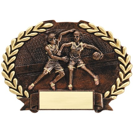 bronze-oval-plate-resin-series-basketball-female