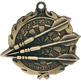 wreath-series-darts-medal