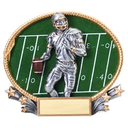 3D Popout Oval Resin Series - Football