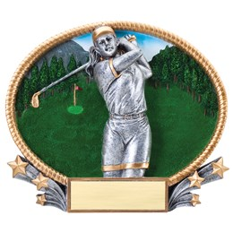 3D Popout Oval Resin Series - Golf female