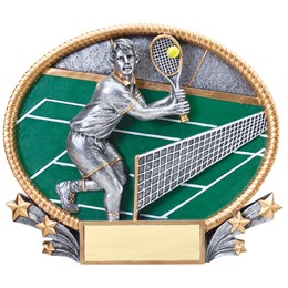 3D Popout Oval Resin Series - Tennis