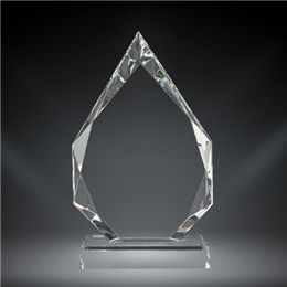 Personalized crystal recognition award with laser engraving