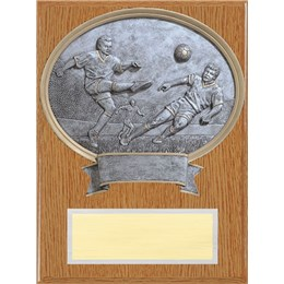 closeout-soccer-resin-plaque-wood