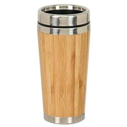 "6 7/8"" Laserable Bamboo Travel Mug"