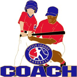 Little League baseball coach pin