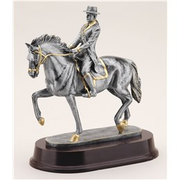 antique-action-resin-series-horse-english-riding
