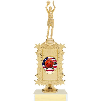 Basketball Trophy - Riser Series with Custom Logo