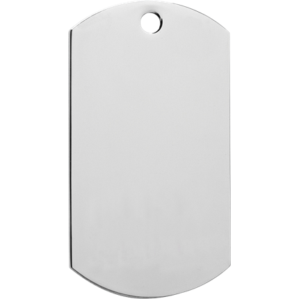 Chrome Dog Tag Series - Blank