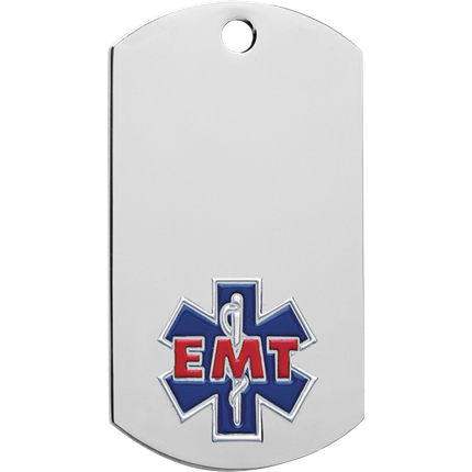 Chrome Dog Tag Series - Emt