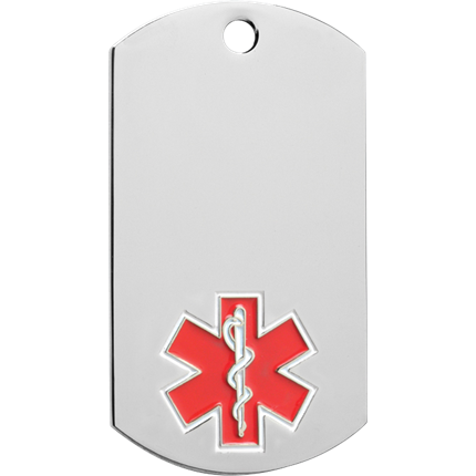 Chrome Dog Tag Series - Medical Alert