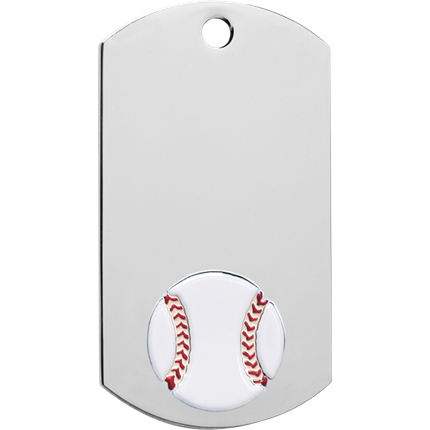 Chrome Dog Tag Series - Baseball
