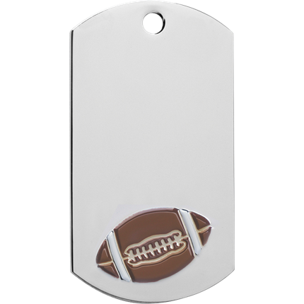 Chrome Dog Tag Series - Football
