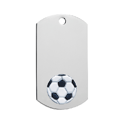 Chrome Dog Tag Series - Soccer