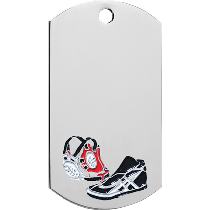 Chrome Dog Tag Series - Wrestling