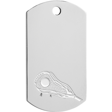 Chrome Dog Tag Series - Lacrosse