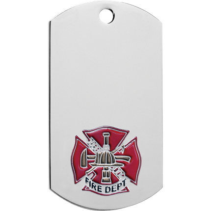 Chrome Dog Tag Series - Fire Dept.