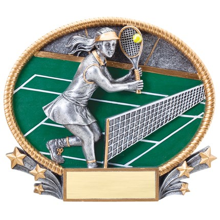 3D POPOUT OVAL RESIN SERIES - TENNIS, F