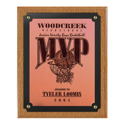 500-OKU OAK FINISH PLAQUE