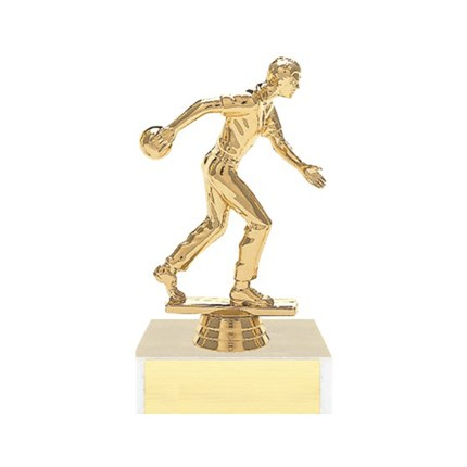Figure on Base Trophy Series - Bowling