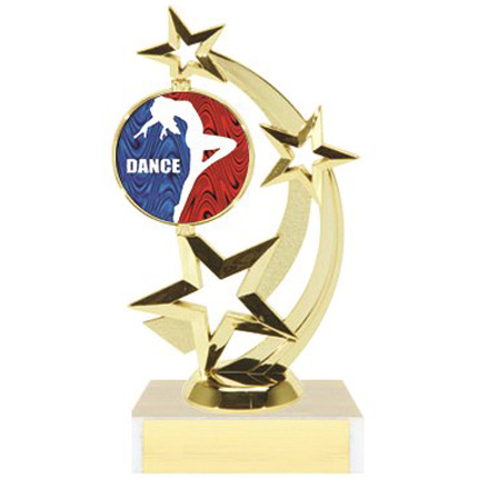 Dance Trophy with Logo Insert - Figure Series - Star