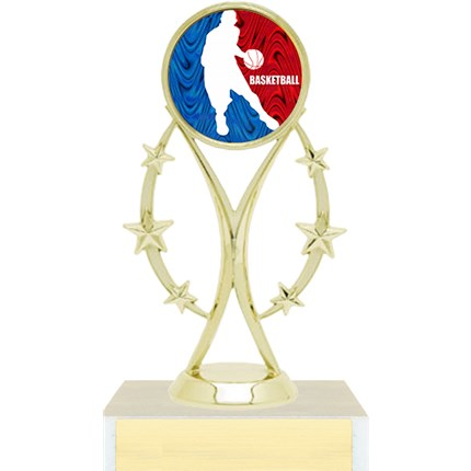 Figure Trophy Series - Basketball w/ Mylar Insert