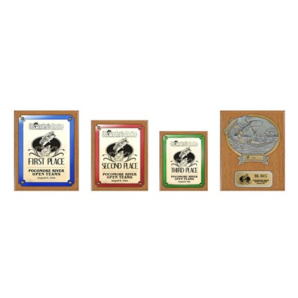US Angler's Choice Plaque Series - Package 1 - Oak