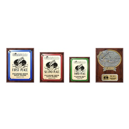 US Angler's Choice Plaque Series - Package 1 - Walnut
