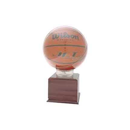 PRE-ASSEMBLED ALL STAR BASKETBALL HOLDERS - DISPLAY CASE