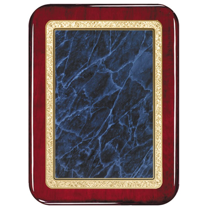 Blue rosewood solid  brass plaques series