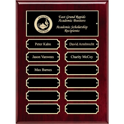 Rosewood High Gloss Finish Perpetual Plaque Series