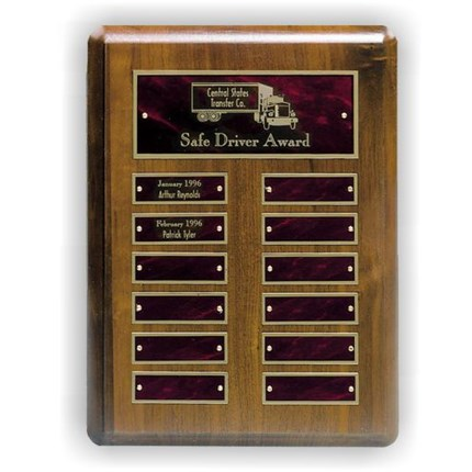 Walnut Perpetual Plaque Series