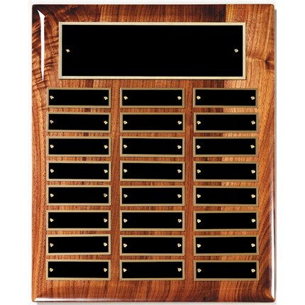 Walnut High Gloss Piano Finish Perpetual Plaque Series