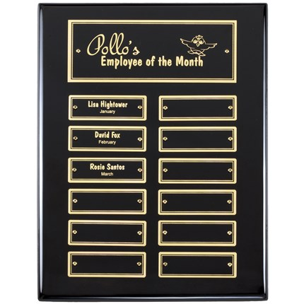 Black Piano Finish Perpetual Plaque Series