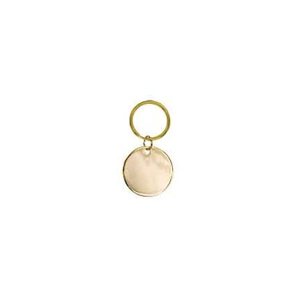 BRASS KEYCHAIN - CIRCLE