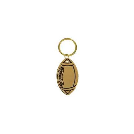 BRASS KEYCHAIN - FOOTBALL