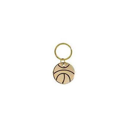 BRASS KEYCHAIN - BASKETBALL