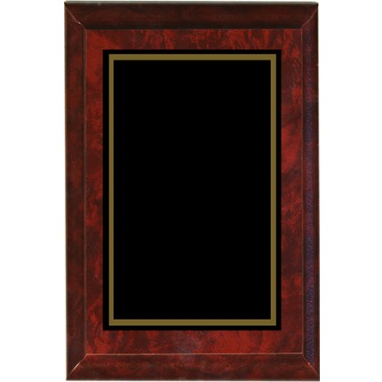 CLOSEOUT LASER PLAQUE - RED MARBLE