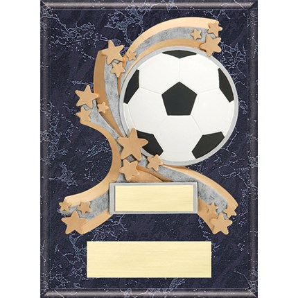 Closeout Soccer Resin Plaque